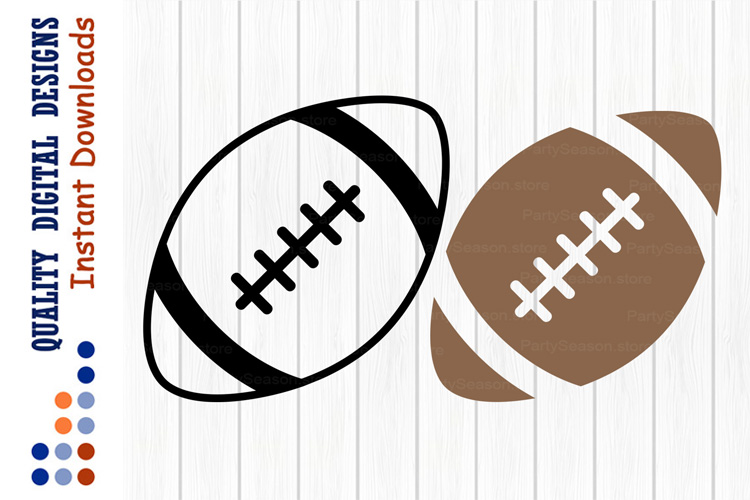 Football SVG Sports ball clipart example image 1