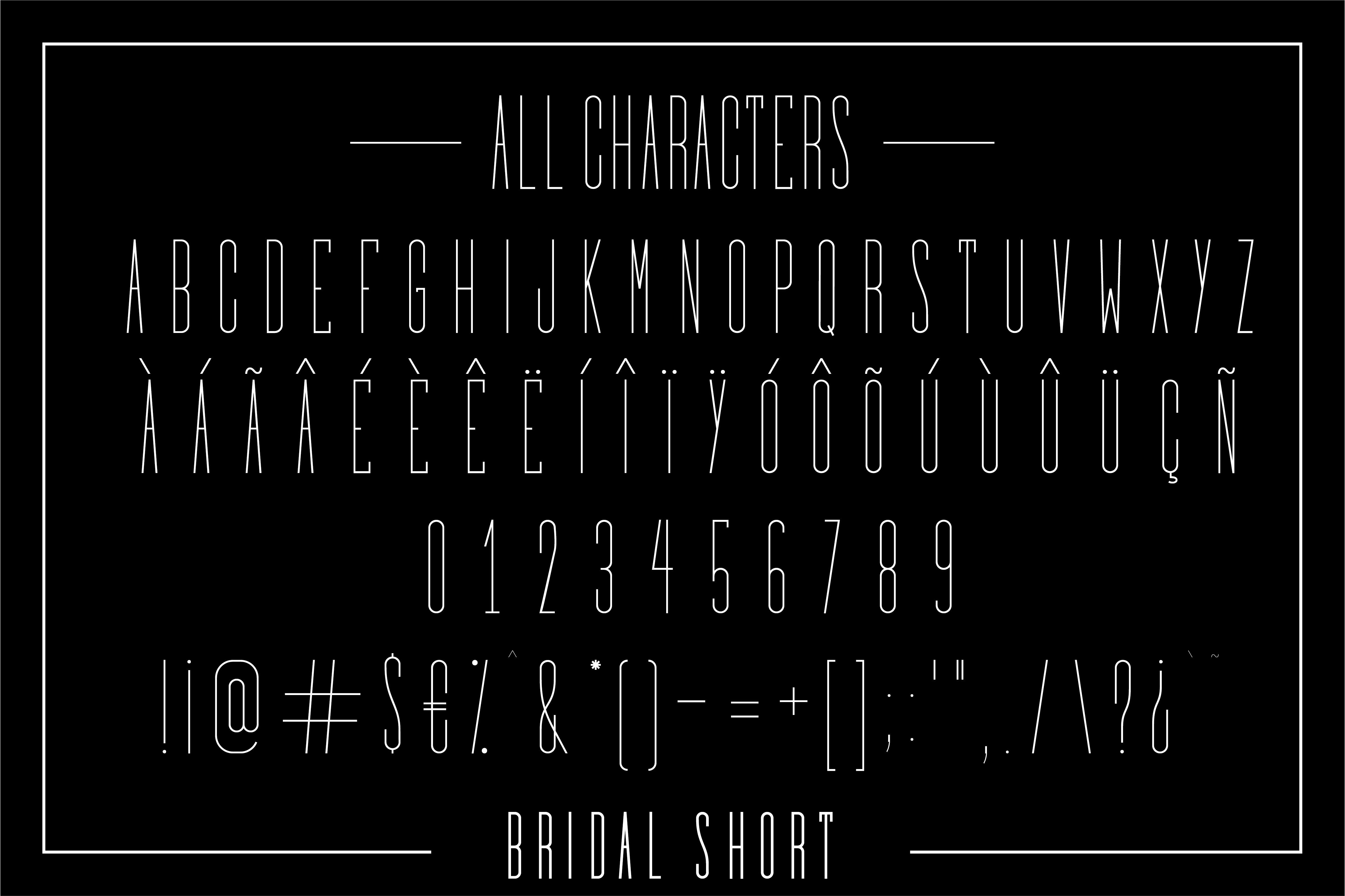 Bridal - Sans Serif Font Family example image 10