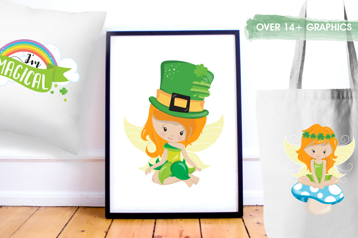 st-patrick fairies graphic and illustrations example image 5