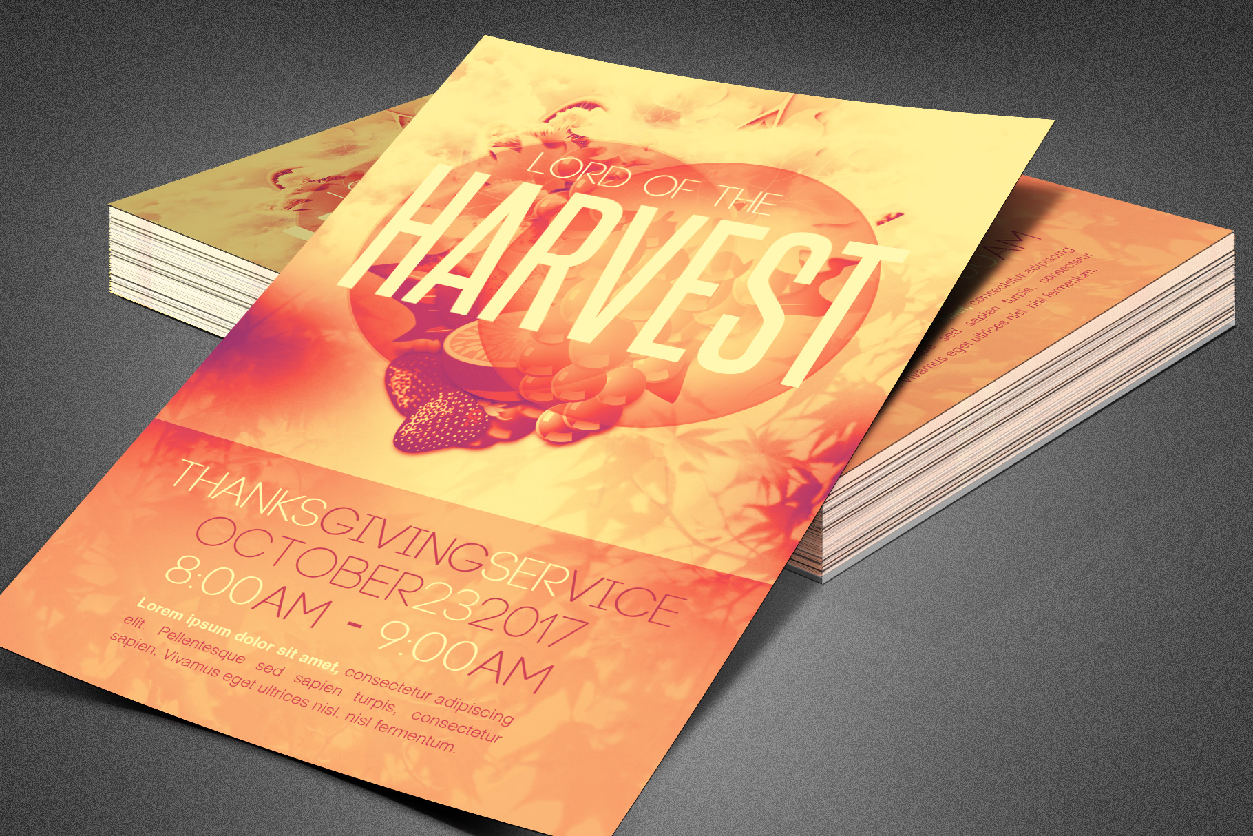 Lord of the Harvest Church Flyer example image 4