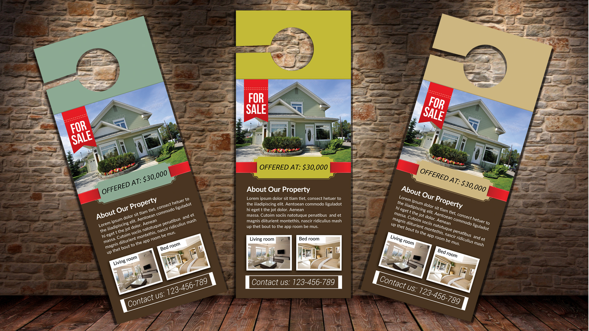 Real Estate Agent Door Hangers example image 1