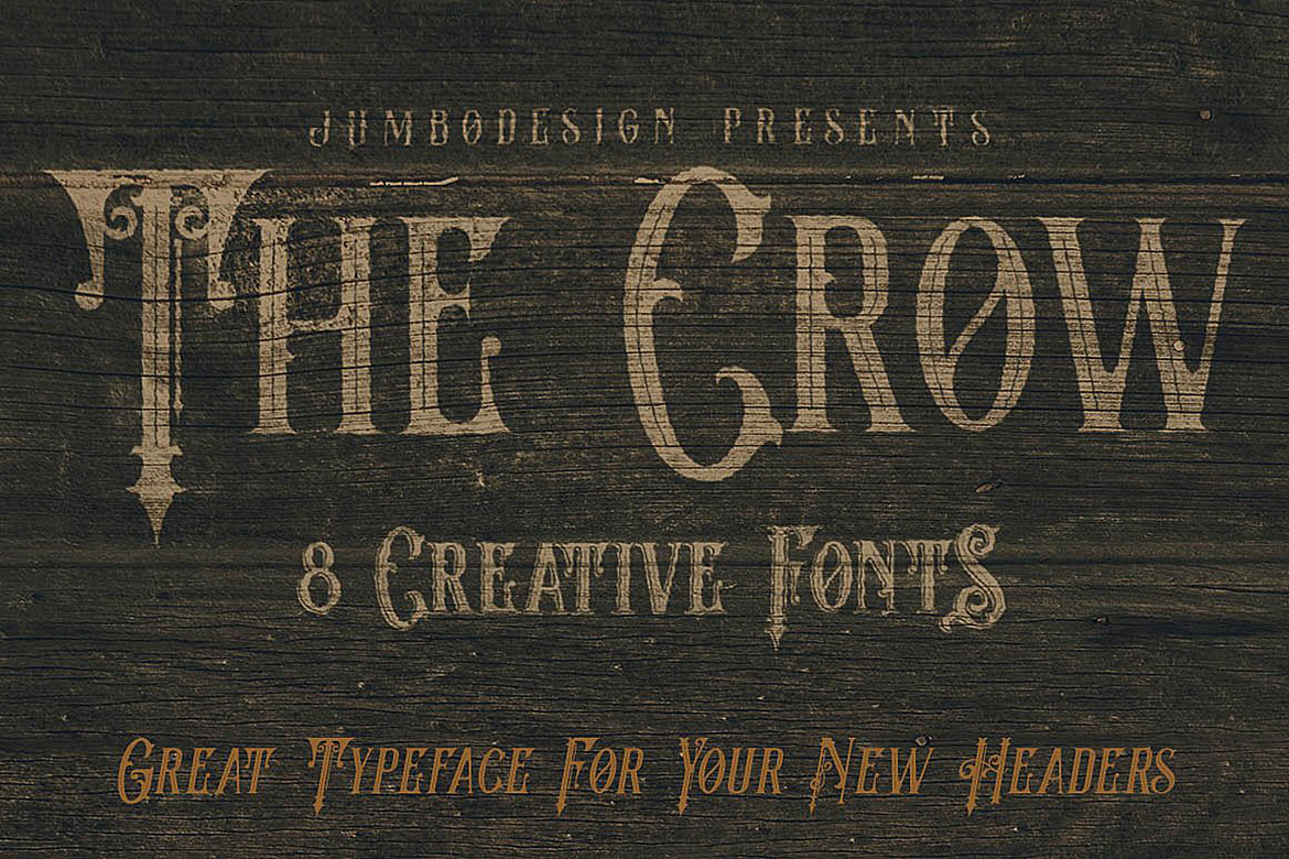 The Crow - Vintage Style Font example image 4