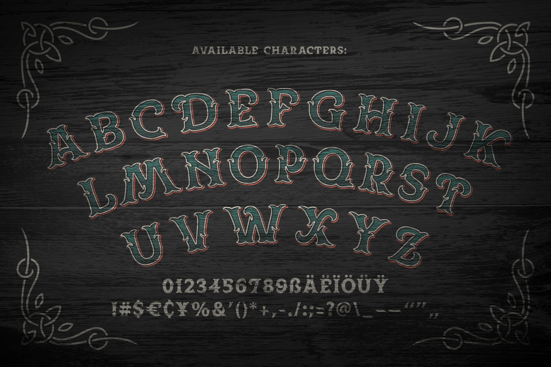 Spirit Board font set example image 2