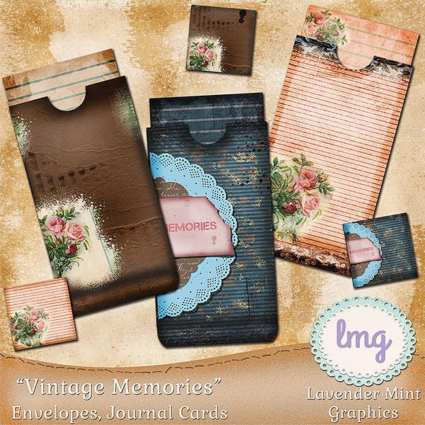 Vintage Memories Junk Journal Envelopes example image 1