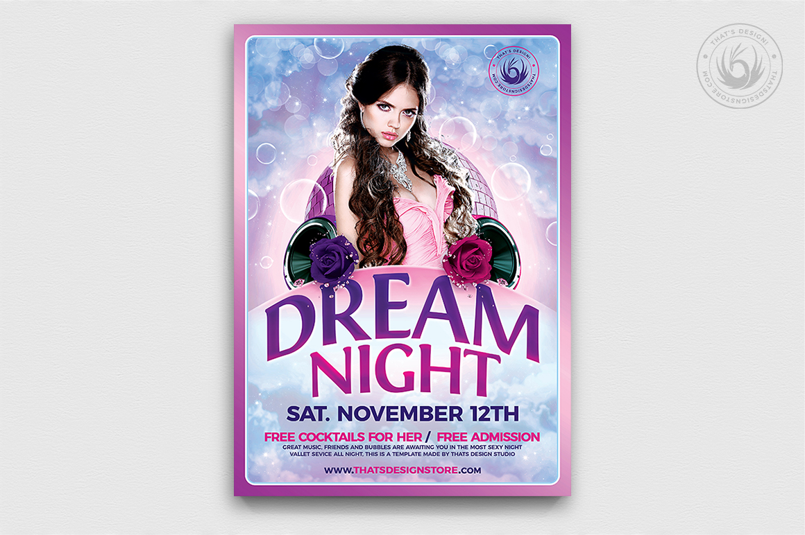 Dream Night Flyer Template example image 1
