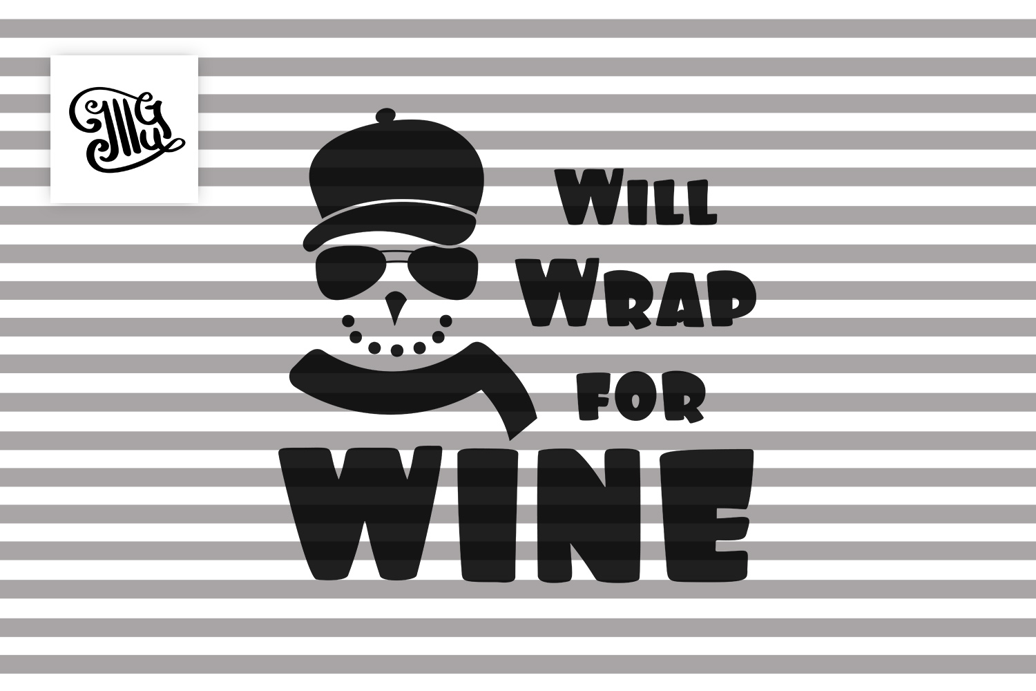 Will Wrap for wine - Christmas wine example image 2