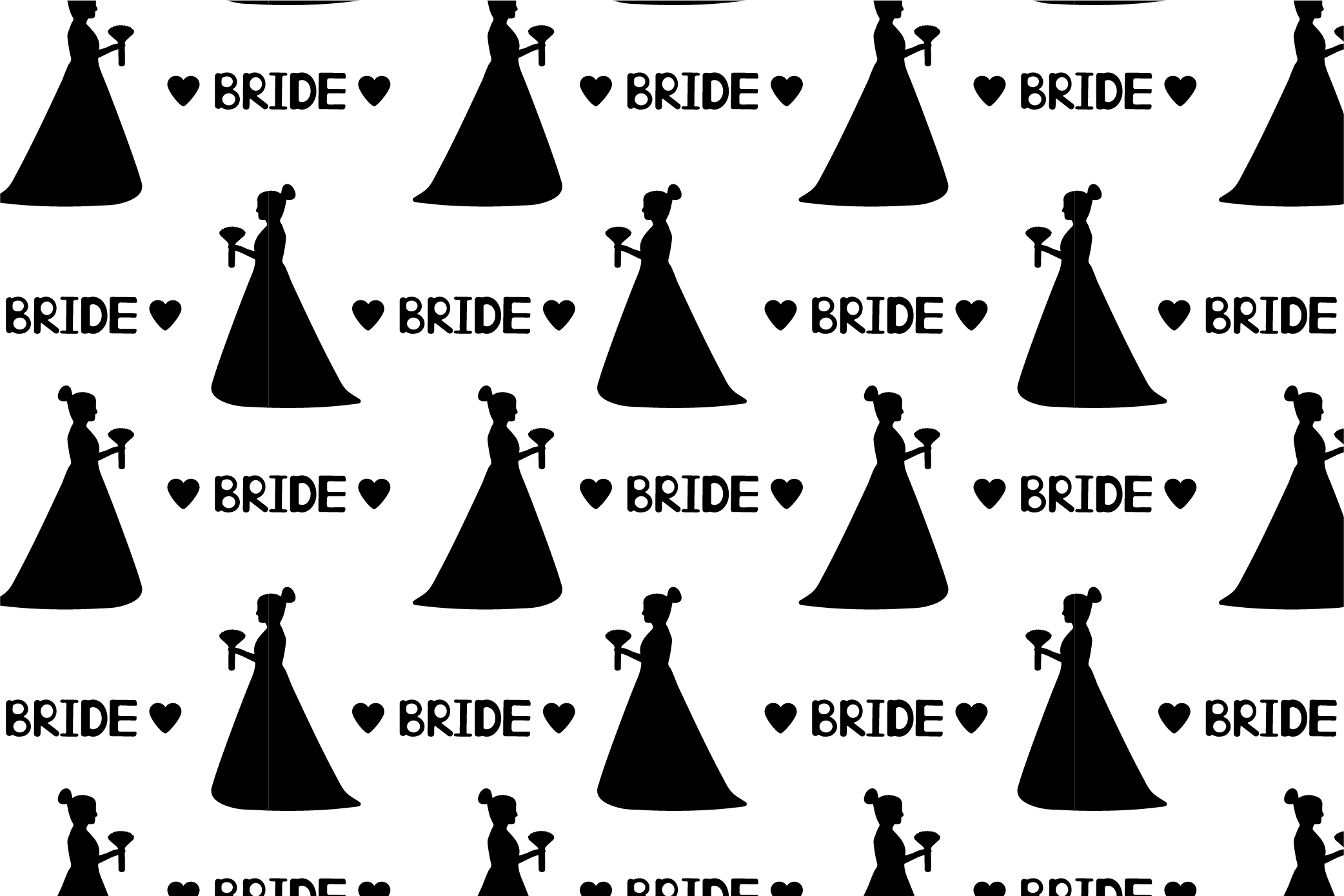 Black and white wedding digital paper. SVG, Ai, EPS 10, JPEG example image 2