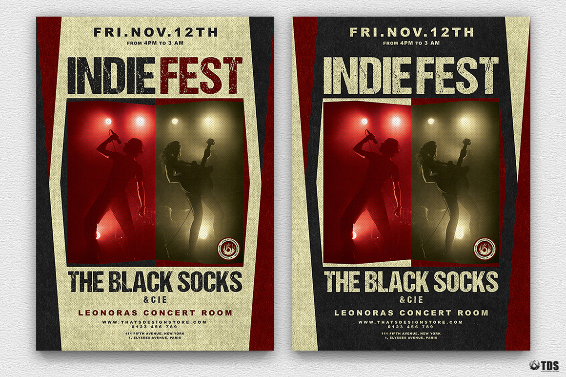 Indie Live Festival Flyer Template V4 example image 2