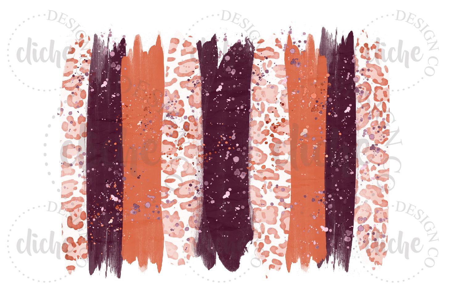 Marsala Paint Stroke Sublimation Design Background example image 1