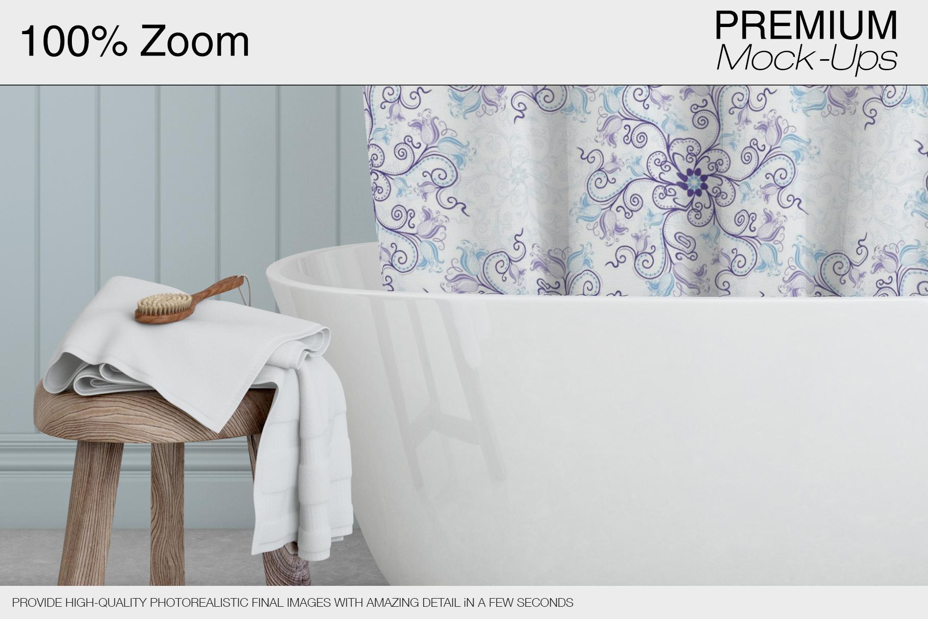 Bath Curtain Mockup Pack example image 11