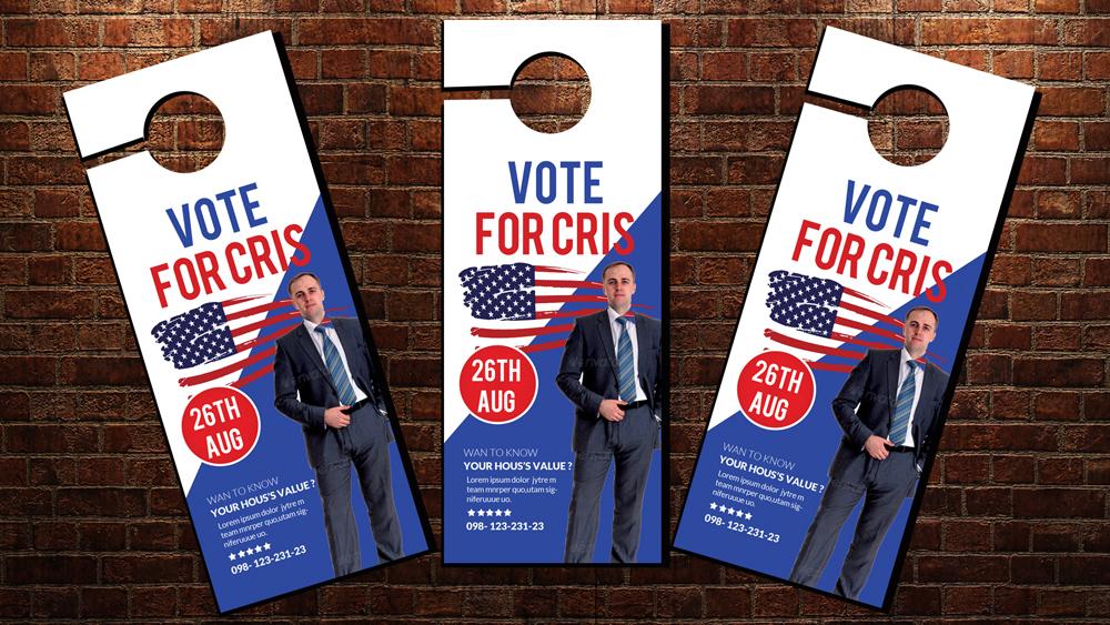 Political Election Door Hangers example image 2