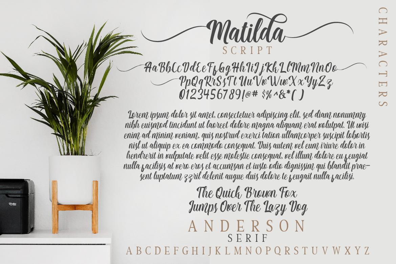 Matilda Anderson Font Duo example image 8