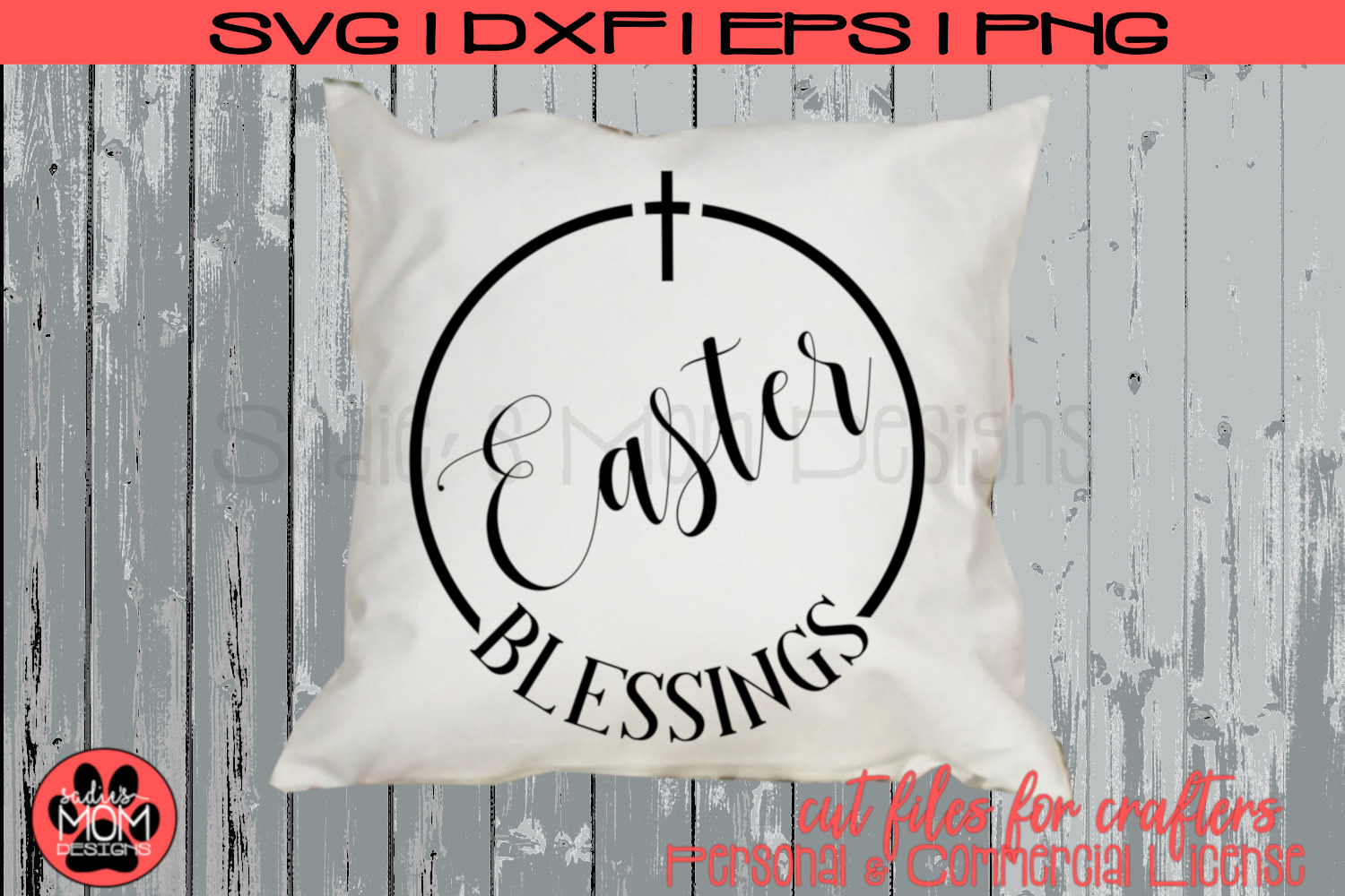 Easter Blessings | Christian SVG Cut File example image 1