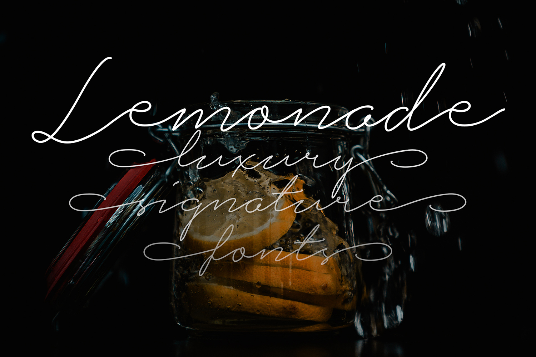 Lemonade Signature Font example image 2