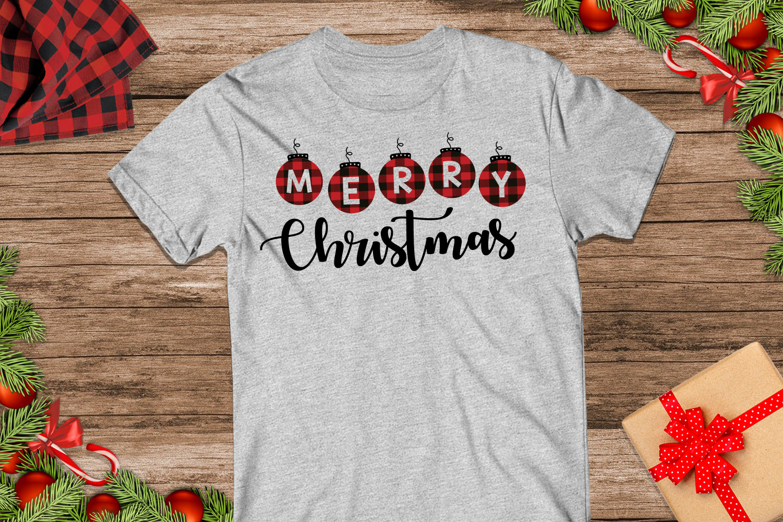 Merry Christmas Buffalo Plaid Svg example image 4