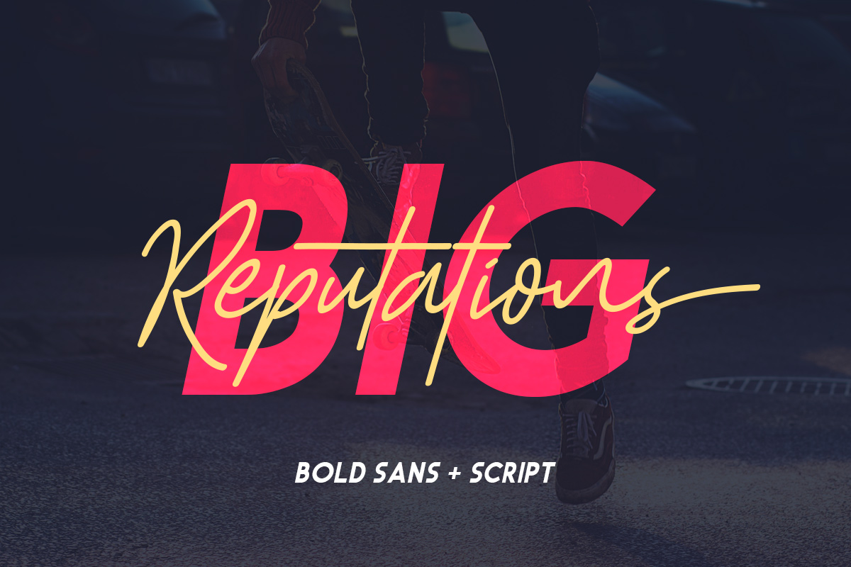 Big Reputation - Font Duo example image 1