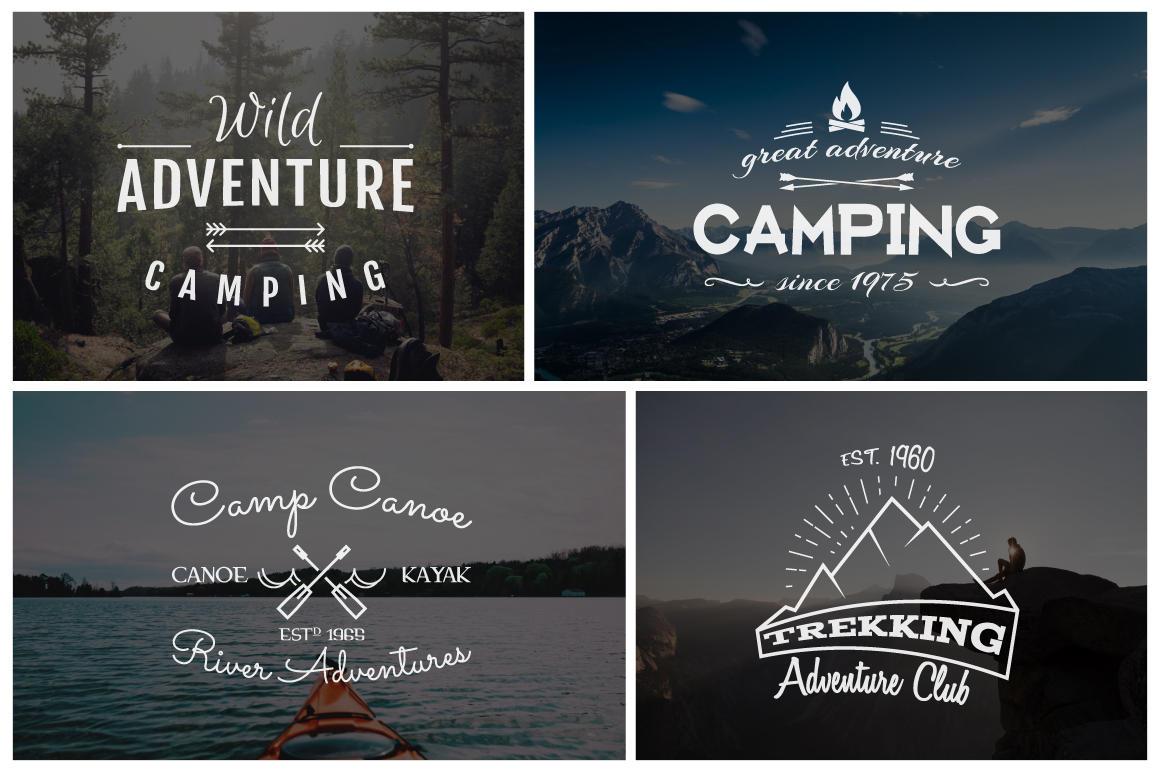 70% OFF Adventure Graphics Pack / Retro Logos Set / SVG's Collection / Icons example image 5