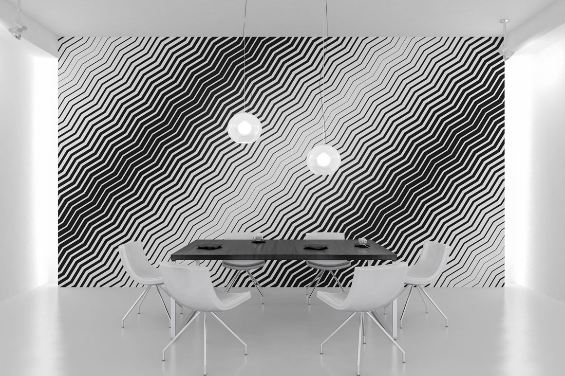 Striped halftone seamless patterns example image 4