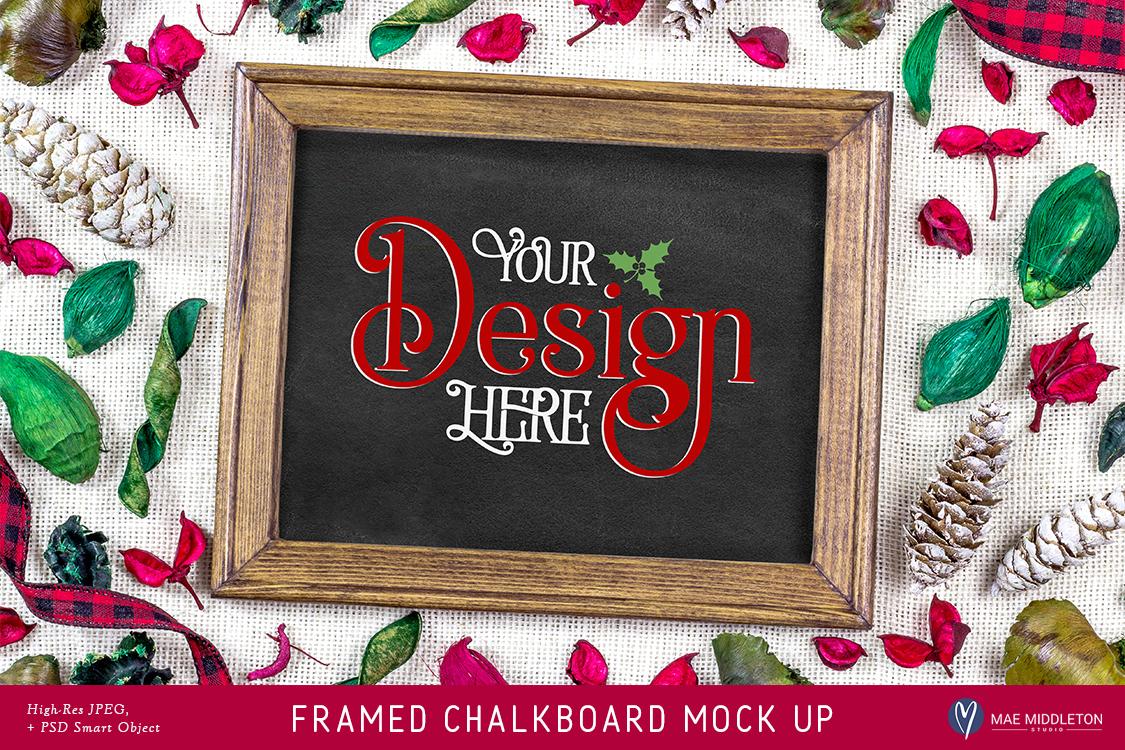 Christmas Chalkboard Mock up example image 1