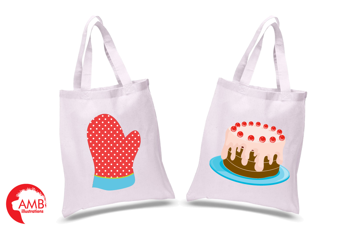Baking clipart, cooking clipart, Girl chefs clipart, graphics and illustrations AMB-1102 example image 2