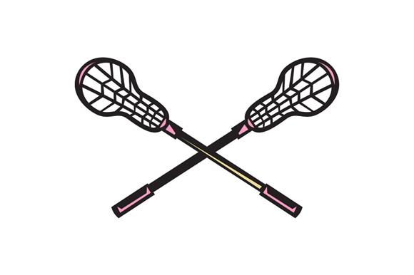 Lacrosse Stick Woodcut example image 1