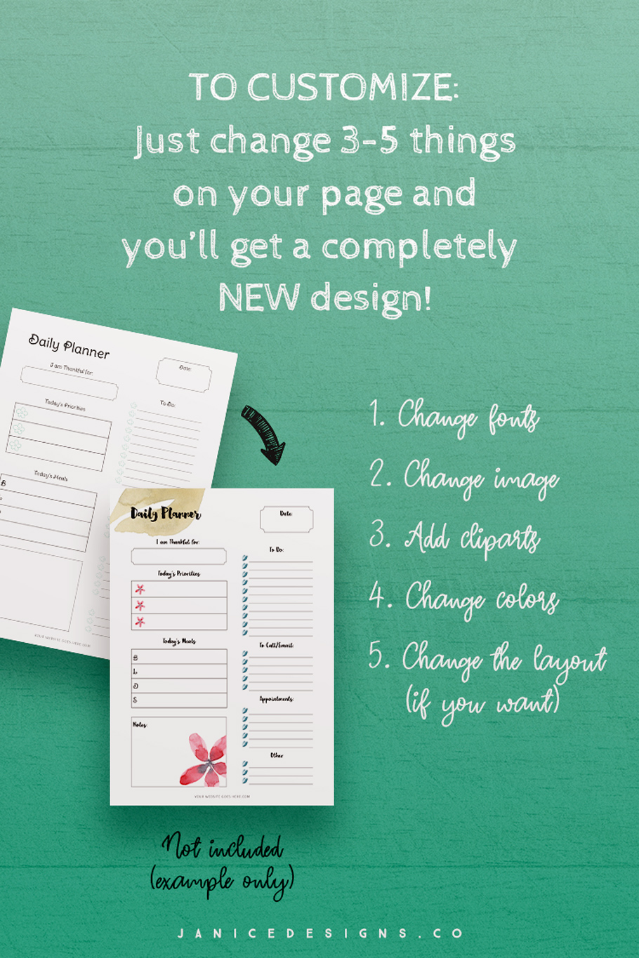 InDesign Planner Template for Commercial Use example image 7