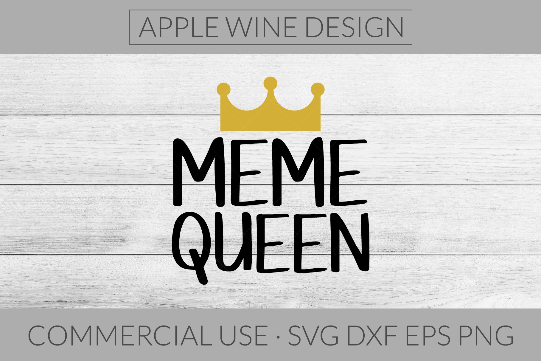 Meme Queen SVG DXF PNG EPS Cutting File example image 1