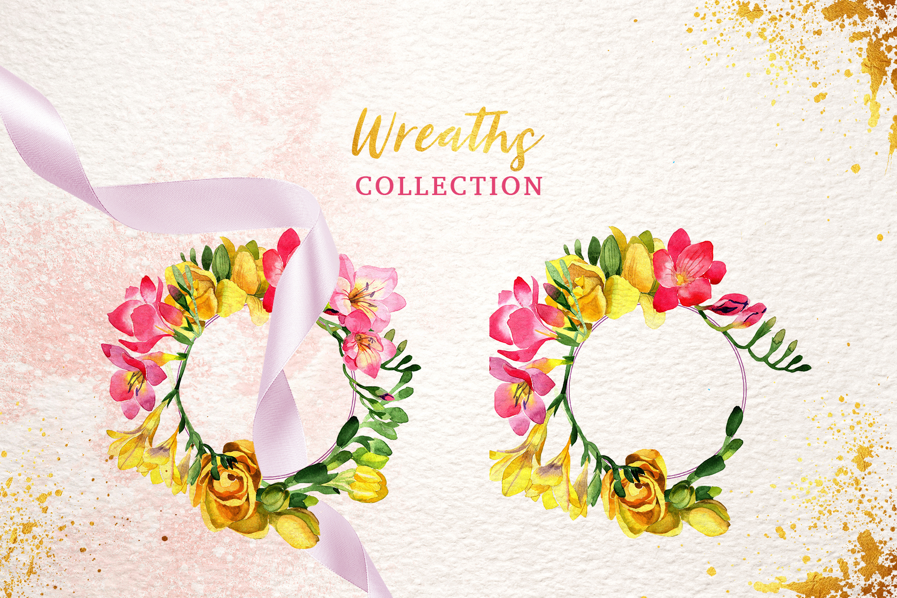 Floral Design collection watercolor png example image 7
