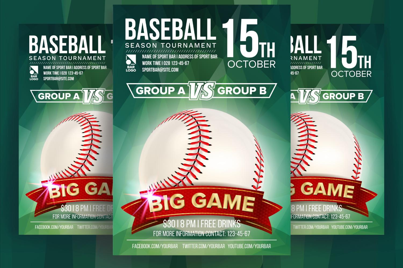 Baseball Poster Vector example image 1