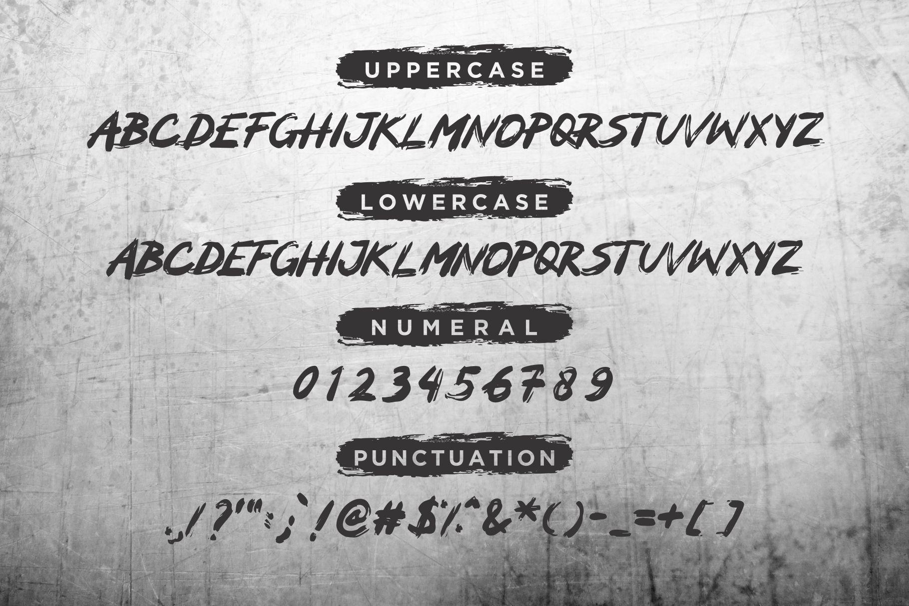 Mocker - A Brush Font example image 2