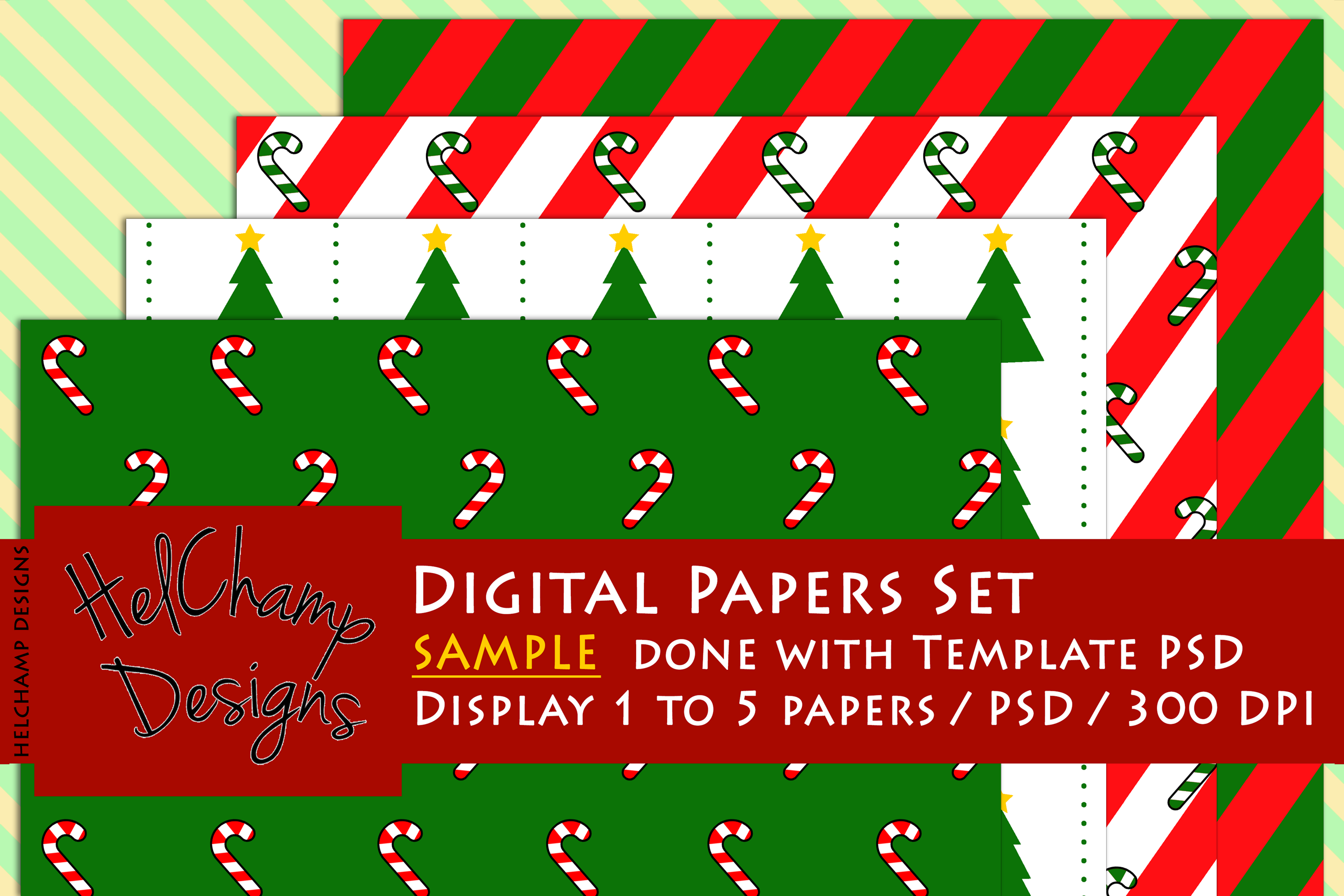 1 to 5 Panels Mockup for Digital Papers - M01 example image 4