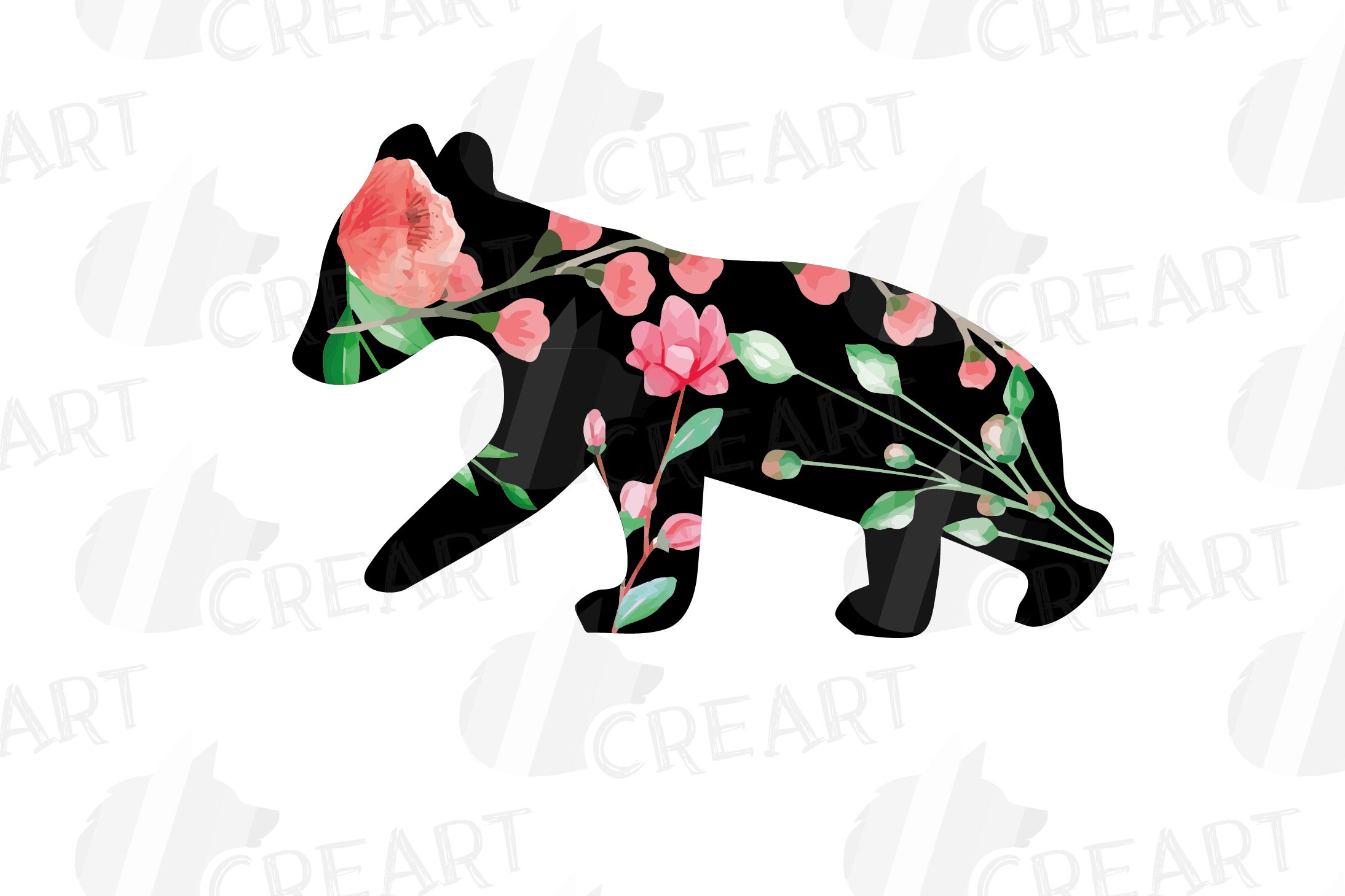 Floral bear family, sister, brother, baby, papa and mama example image 11