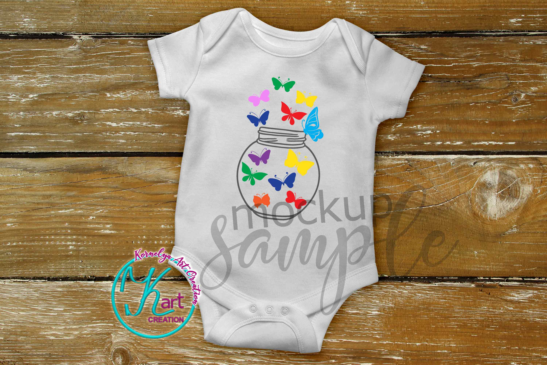 Blank White Baby Onepiece Mockup Bodysuit mock up example image 2