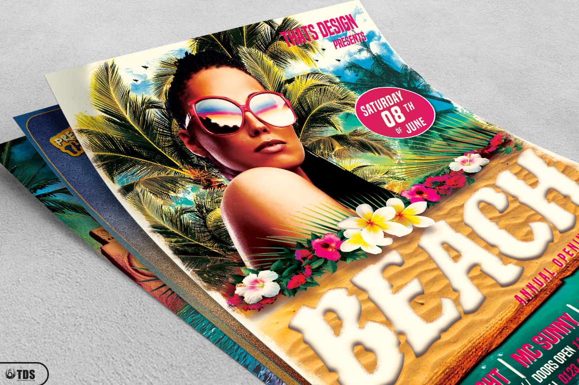 Beach Party Flyer Bundle V2 example image 4