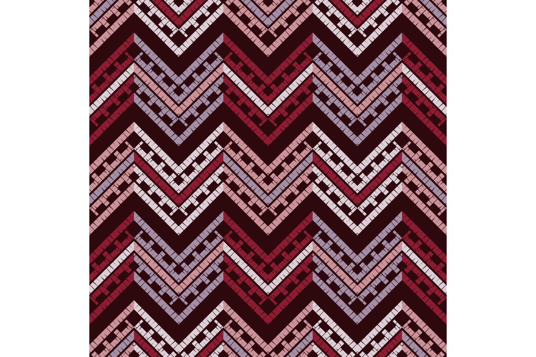 Ethnic boho ornament. Zigzag. Set of 10 seamless patterns. example image 4