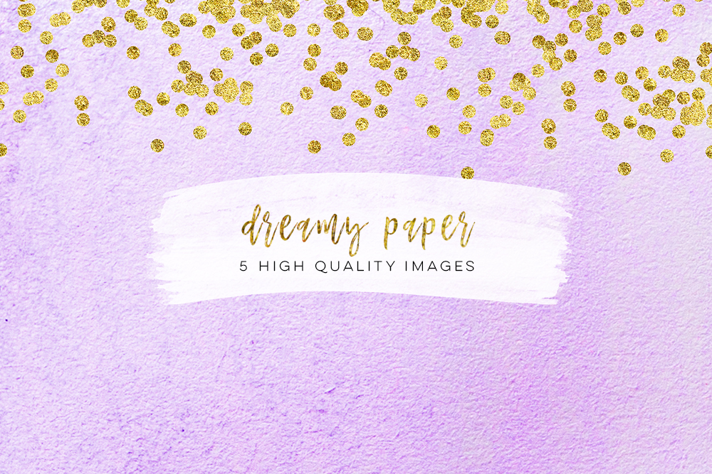 real watercolor paper, High Resolution Digital Paper 300 DPI, dreamy paper blue and lilac paper, indigo color paper gold confetti watercolor example image 2