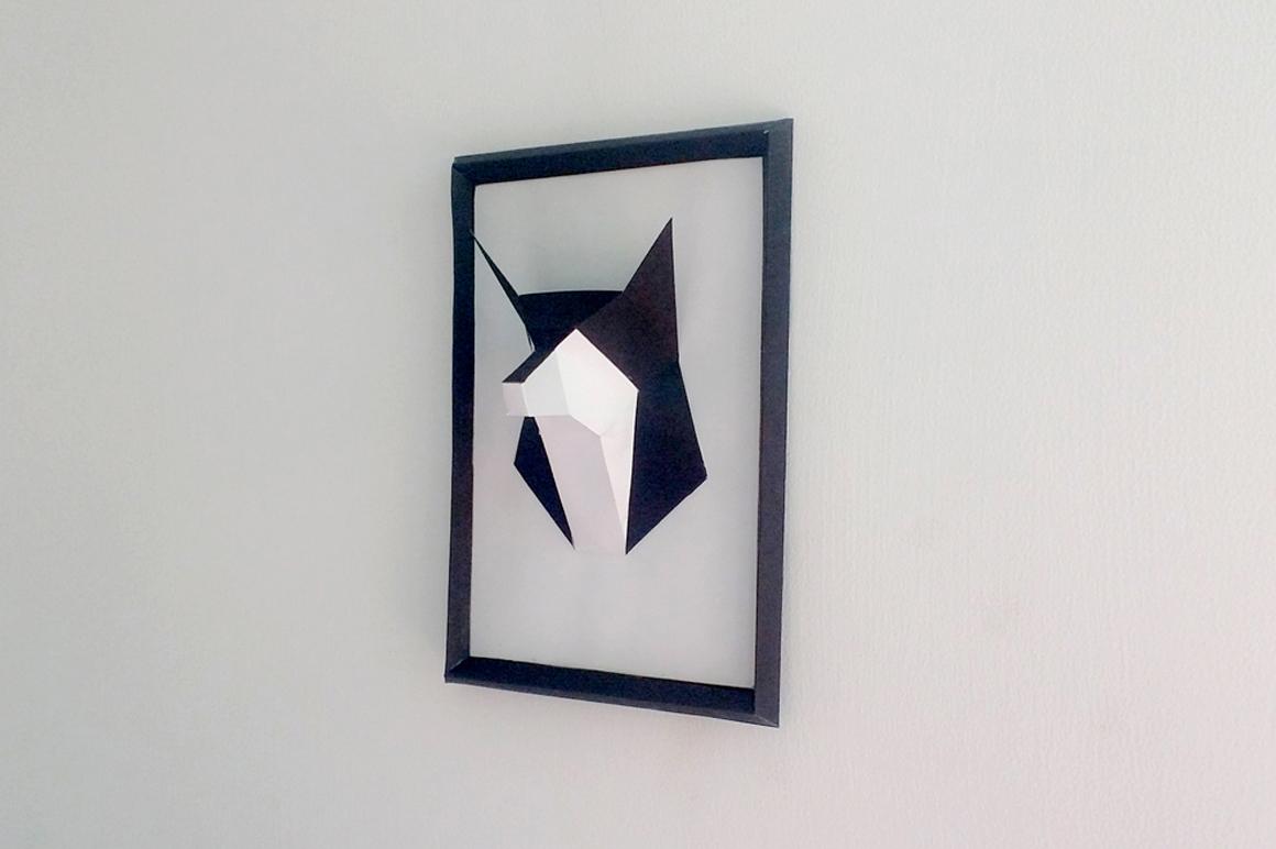 DIY Fox frame - 3d papercraft example image 2