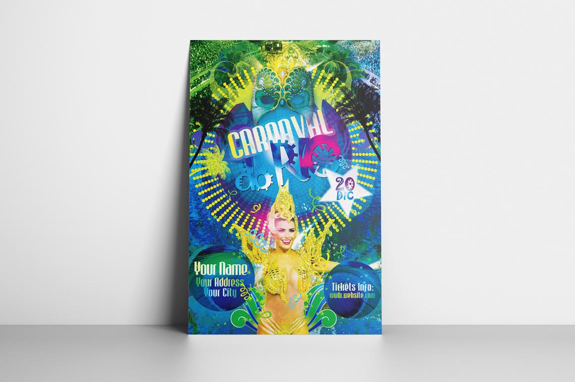 Carnaval Do Rio Flyer Template example image 2