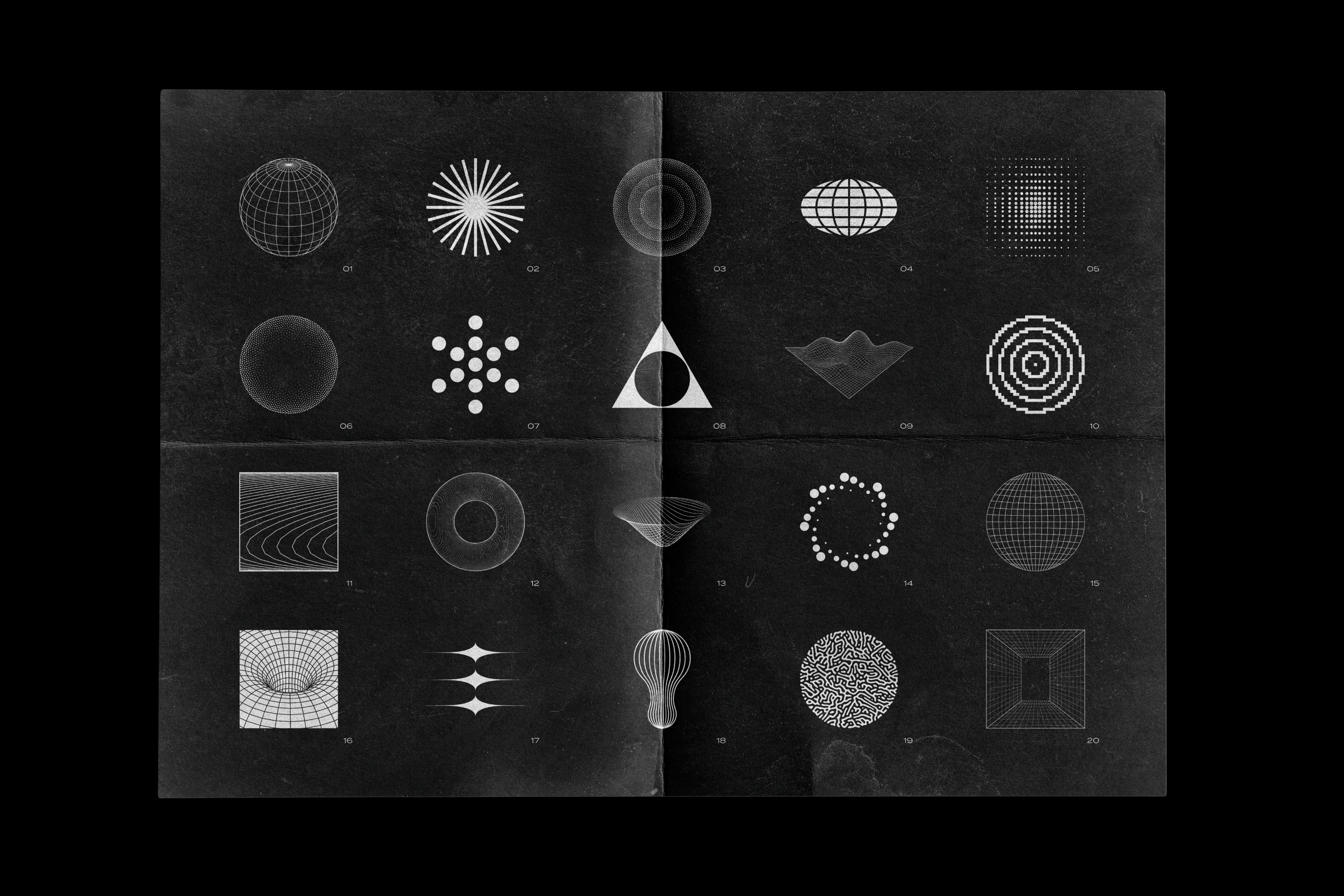 Abstract Shapes collection - 100 design elements example image 4