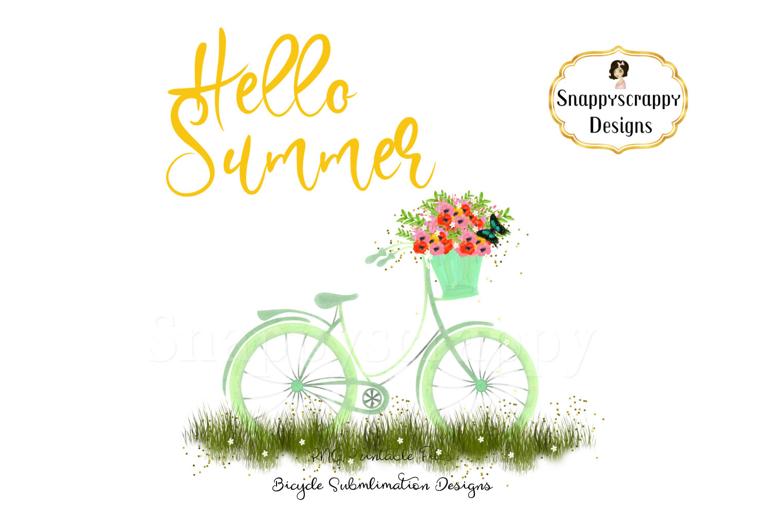 Summer Bicycle Sublimations example image 4