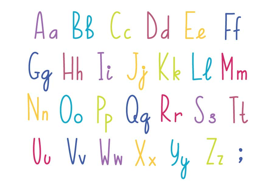 Unicorns vector set and alphabet bonus example image 5