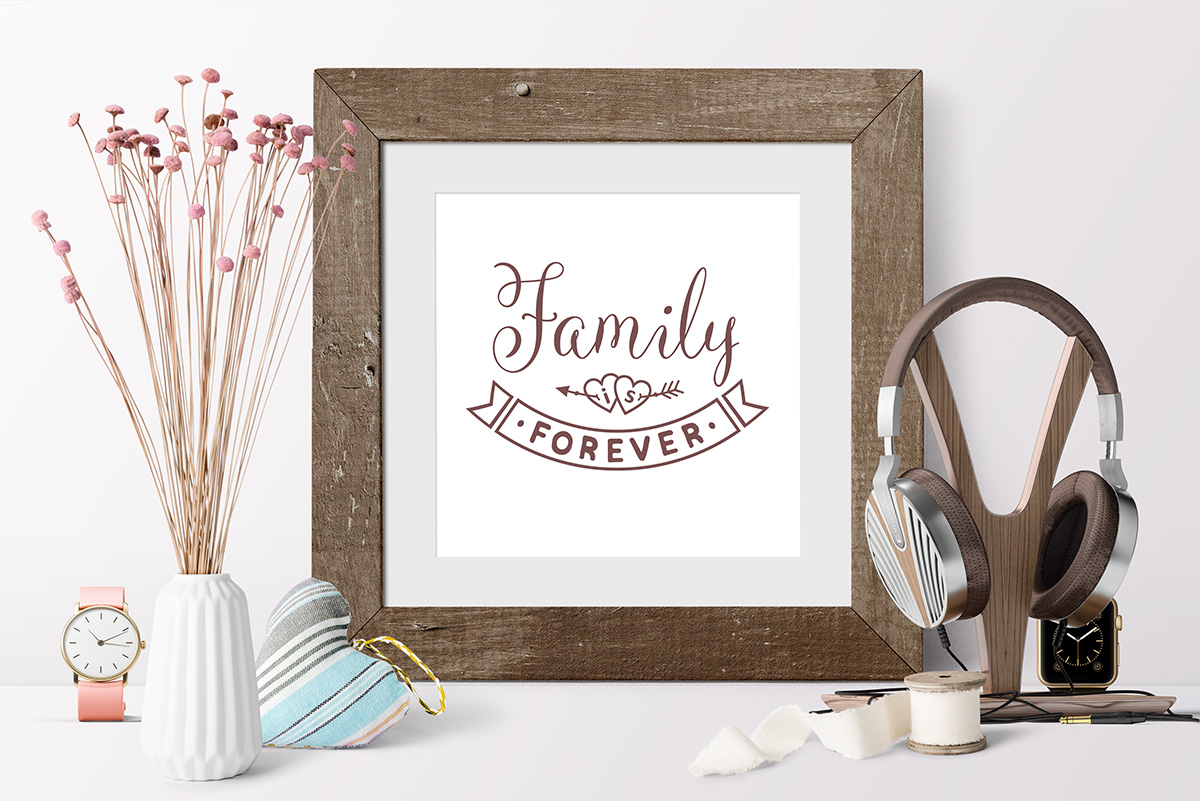 Valentine Love Family SVG Quote cut file example image 3