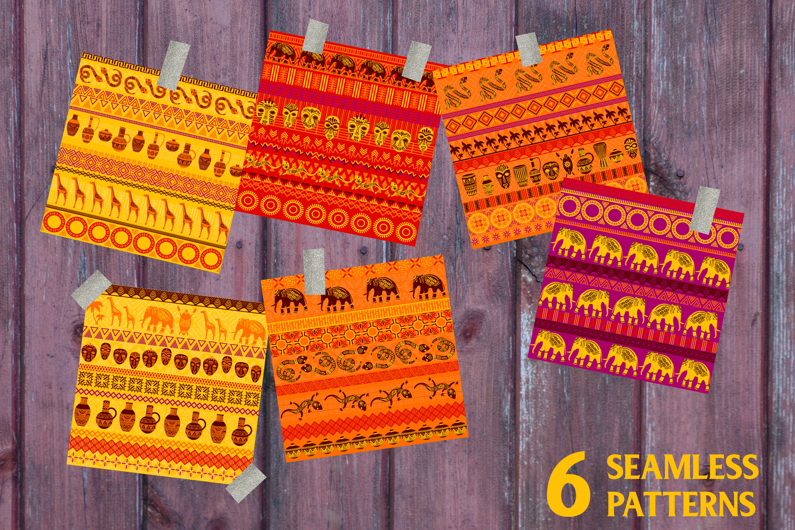 African Patterns Collection example image 4
