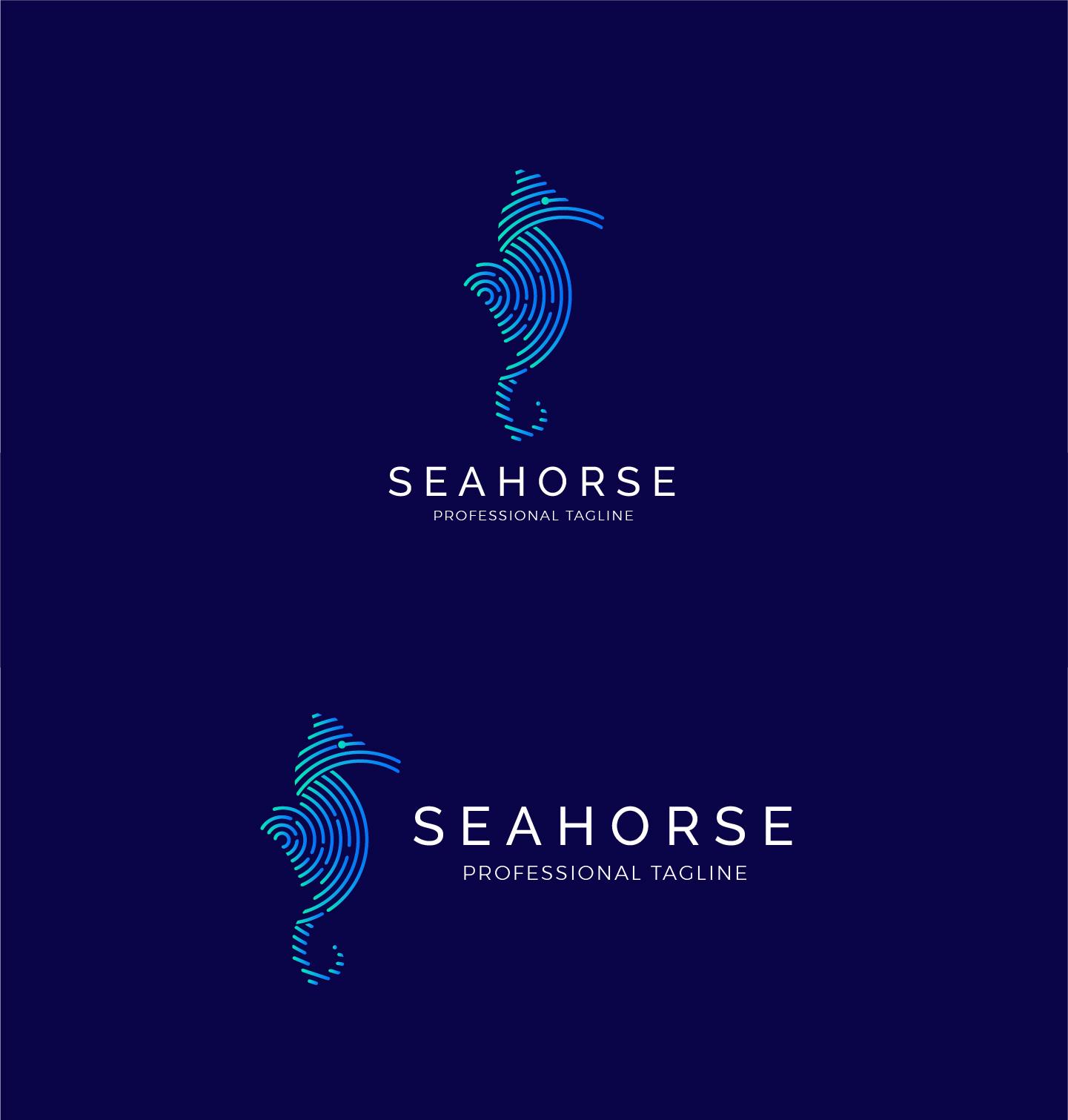 Animal Sea Logo - Seahorse Logo example image 5