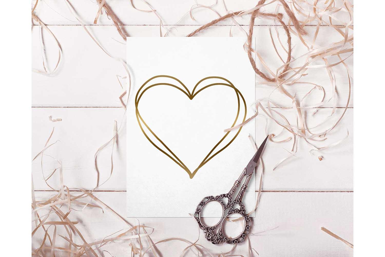 Heart frame svg design example image 2