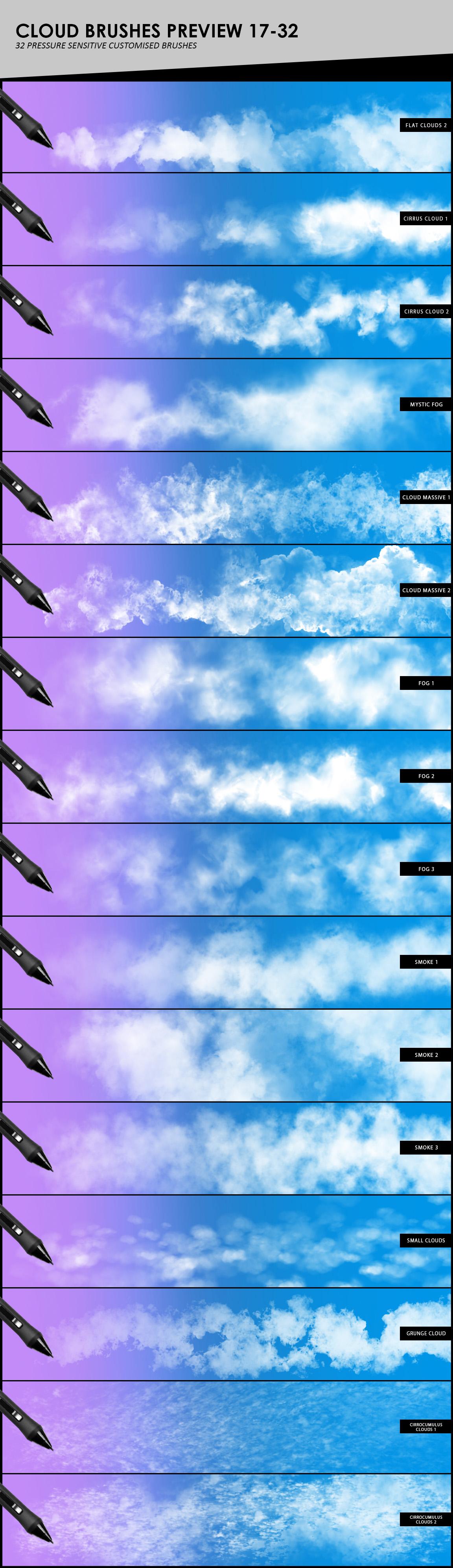Clouds, Fog, Smoke Photoshop Brushes example image 5