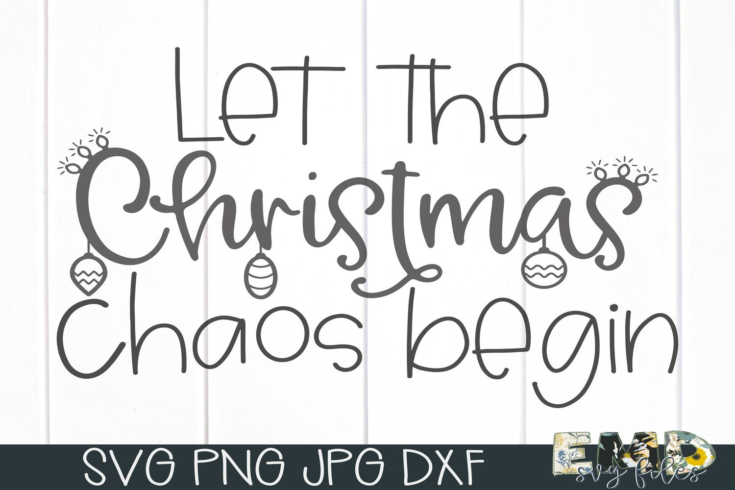 Christmas Humor Chaos Svg File | Holiday Svg example image 2