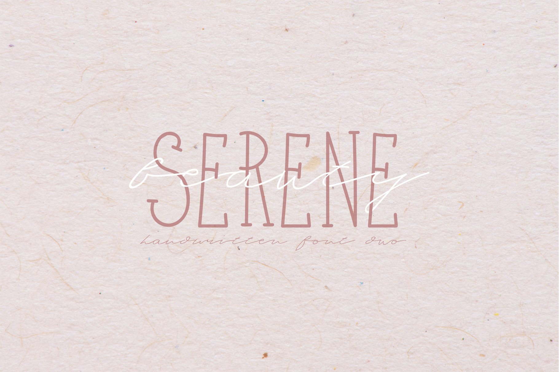 Serene Beauty Handwritten Font Duo example image 1