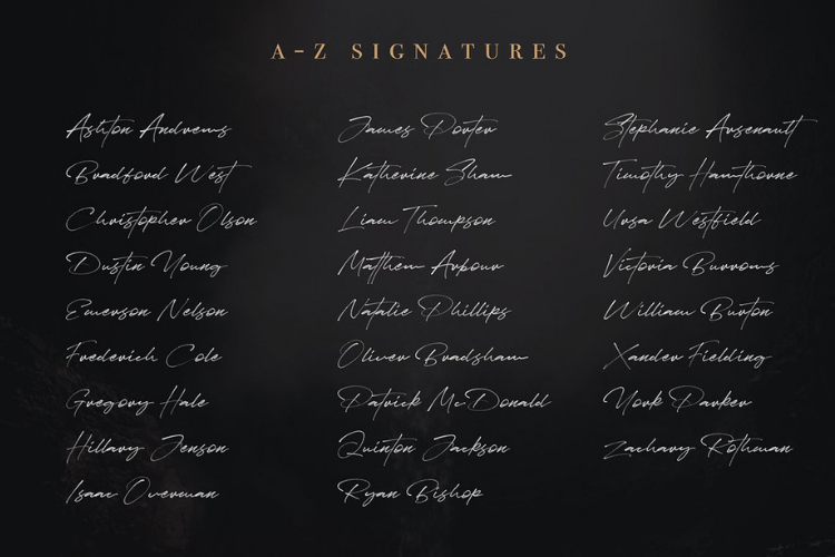 JV Signature SVG - Opentype SVG FONT example image 12