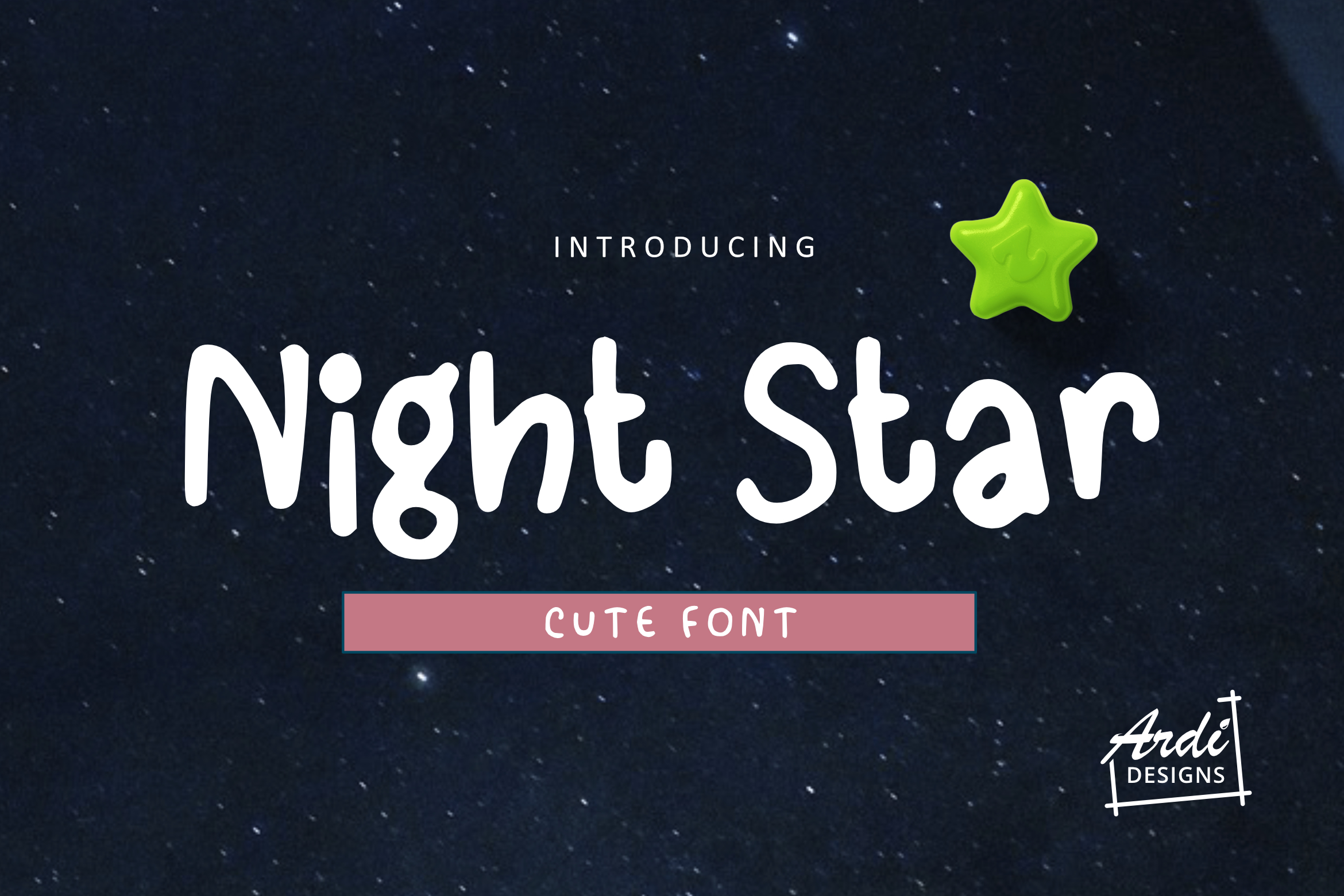 Night Star Font example image 1
